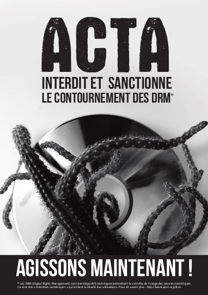 Affiche anti ACTA recto