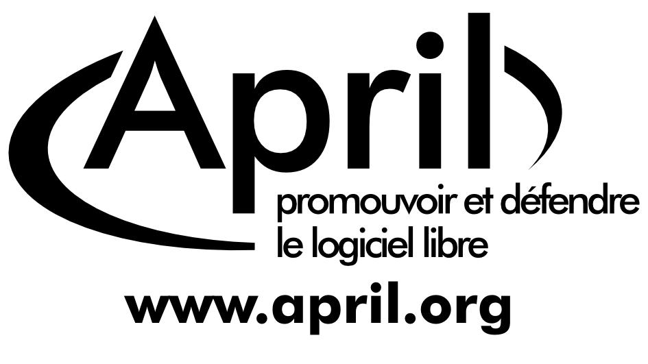 autocollant logo April en blanc
