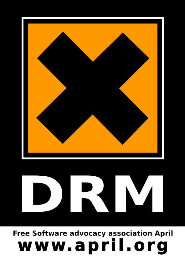 sticker drm en anglais