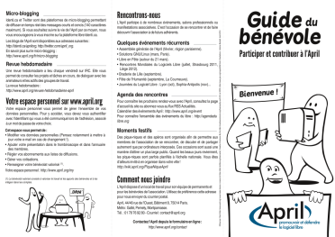 Guide du bénévole page 1